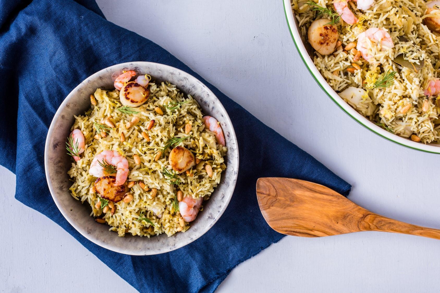 Herbed Seafood Biryani