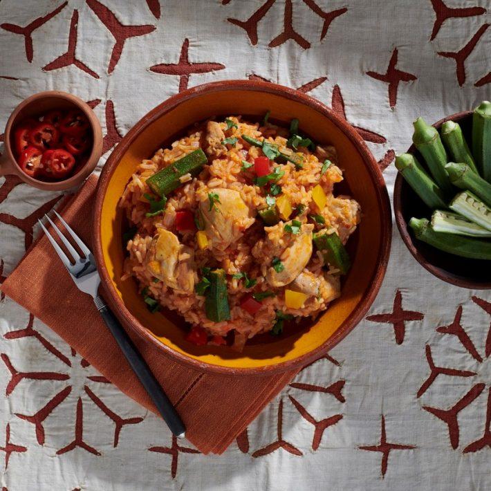Jollof Rice with Chicken