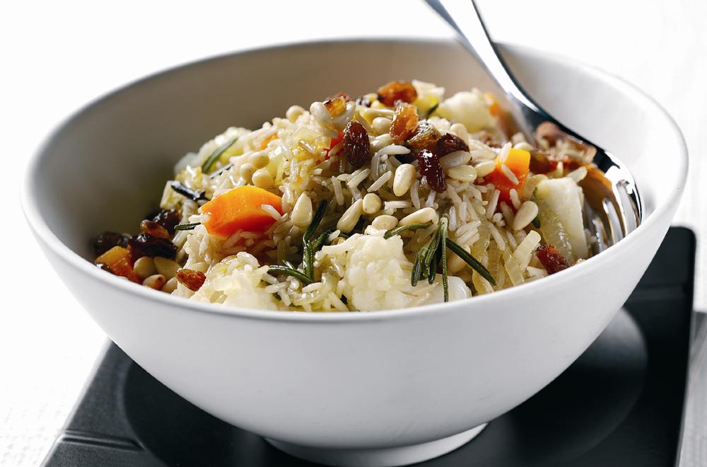 Sicilian Cauliflower & Caramalised Onion Rice