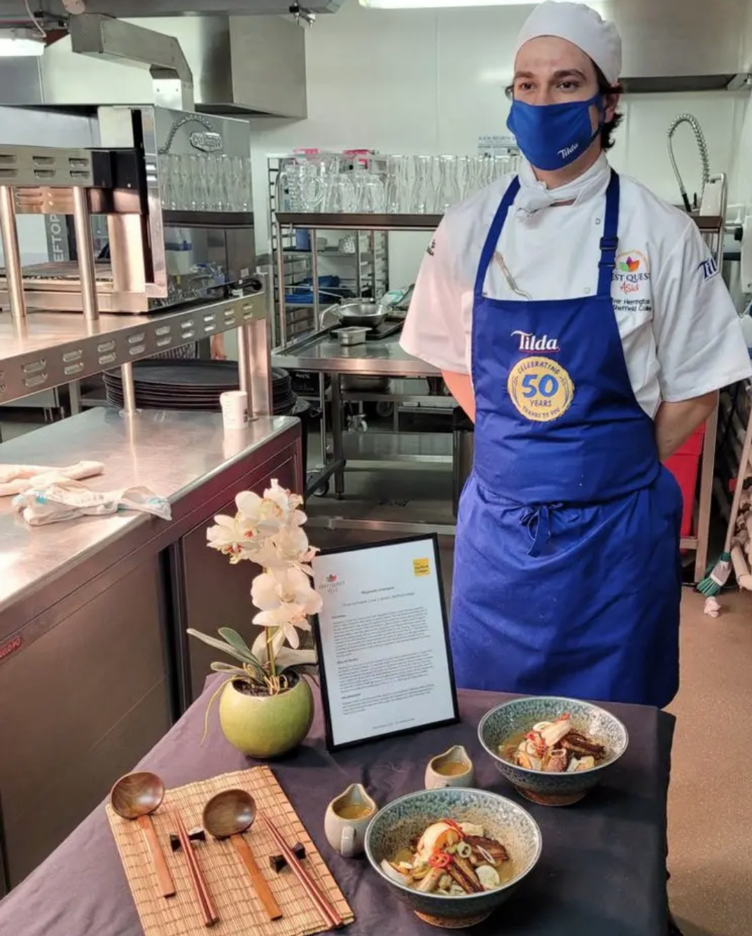 Sheffield College Student Triumphs at Zest Quest Asia – Tilda Challenge 2021!