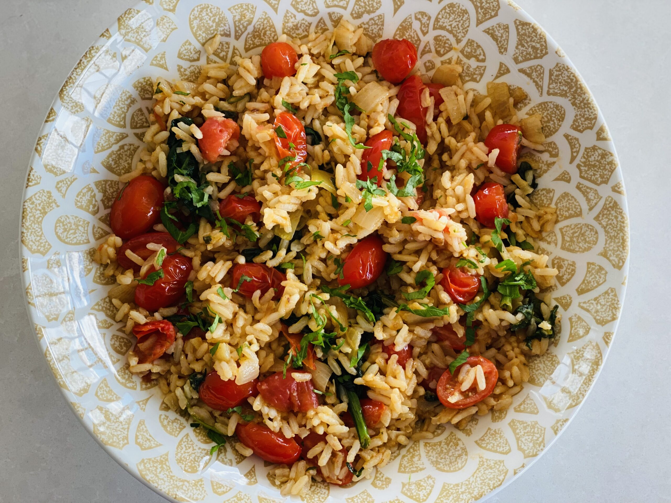 Spine Tingling Tomato & Spinach Pilaf
