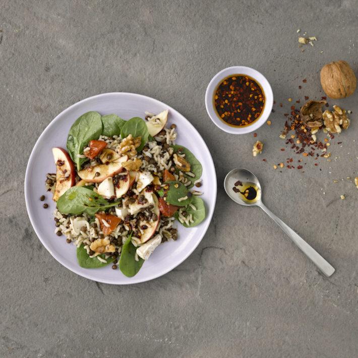 Linzen-Spinazie Salade